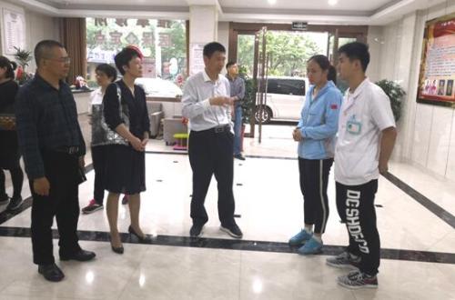 省残疾人就管中心调研靖江市盲人医疗按摩机